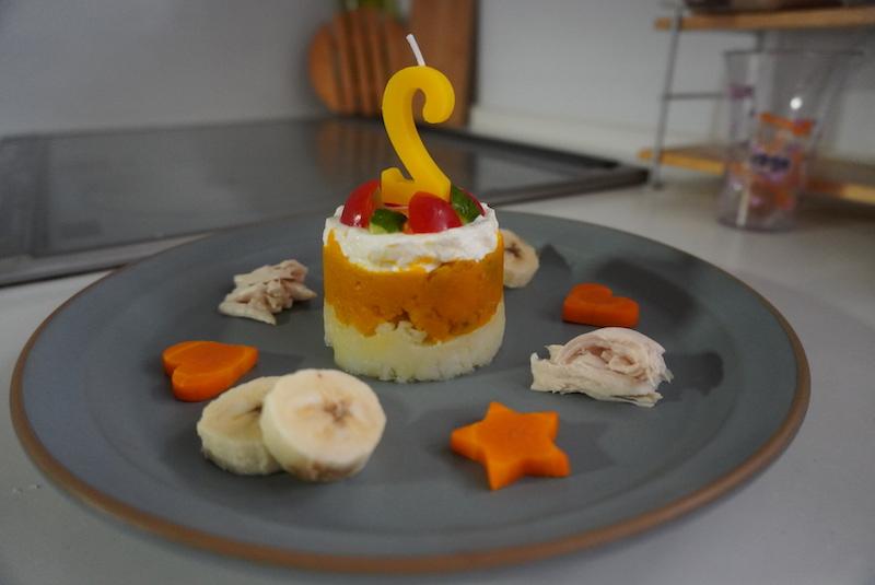 手作り犬のケーキ写真