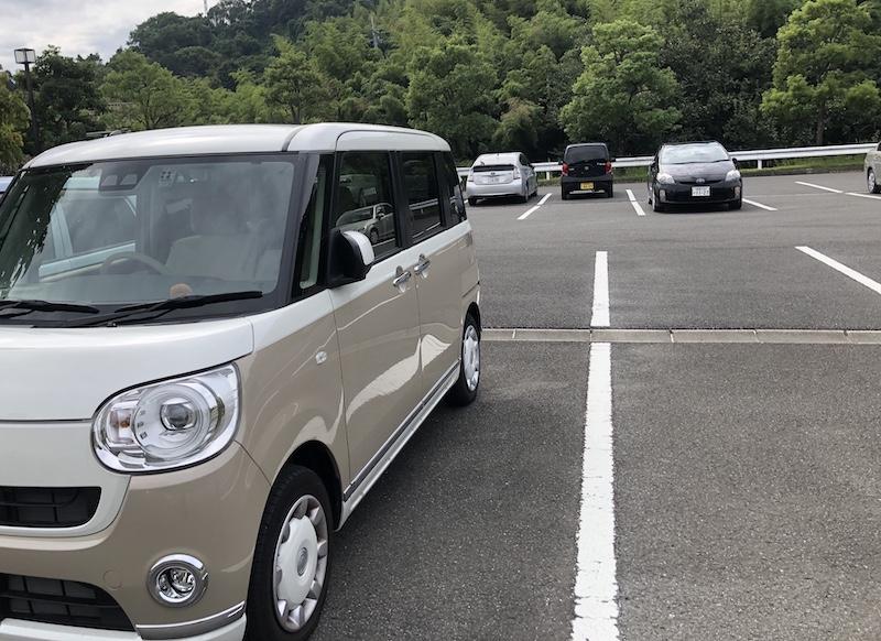 松山総合公園の第4駐車場