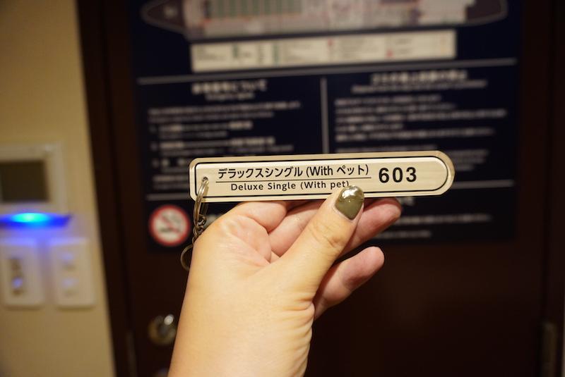 オレンジフェリーのペットウィズルームの鍵の写真