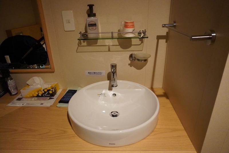 オレンジフェリーのペットウィズルームの洗面台の写真
